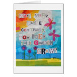 Mary Mary Quite Contrary Greeting Cards