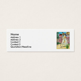 Mary, Mary, quite contrary Mini Business Card