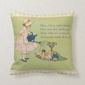 Mary Mary Quite Contrary Nursery Rhyme Pillow