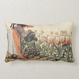 Mary, Mary, Quite Contrary Nursery Rhyme Pillow