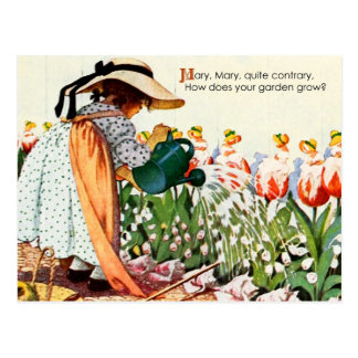 Mary, Mary, Quite Contrary Postcard