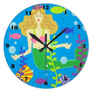 Mary Mermaid Large Clock