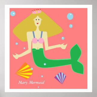 Mary Mermaid Poster
