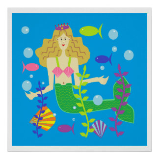 Mary Mermaid Print