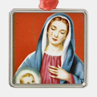 Mary Metal Ornament