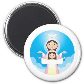 Mary Mother of God 2 Inch Round Magnet