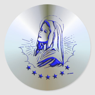 Mary - Mother of God Classic Round Sticker