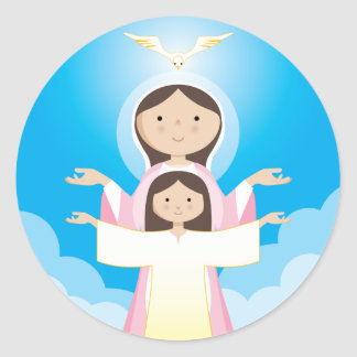 Mary Mother of God Classic Round Sticker