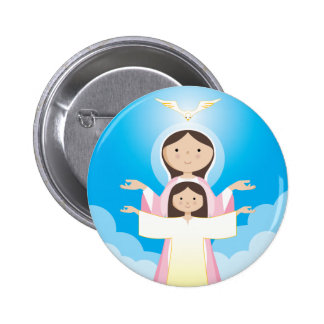 Mary Mother of God Pinback Button