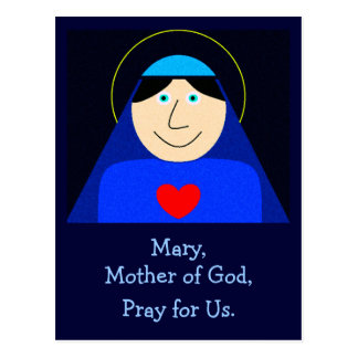Mary Mother of God Postcard