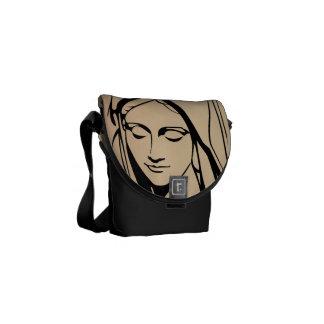 Mary Mother Of Jesus Face Rickshaw Messenger Bag