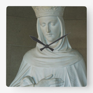 Mary Mother Of Jesus Square Wall Clock