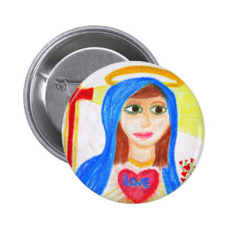 Mary, Mother of Love Button