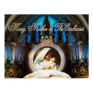MARY, MOTHER OF THE EUCHARIST. POSTCARD