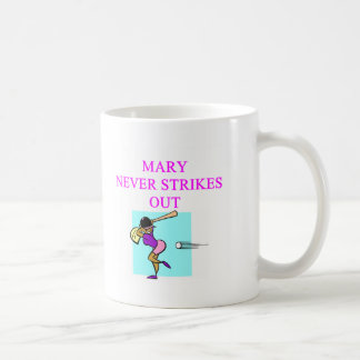 MARY never strikes out Classic White Coffee Mug