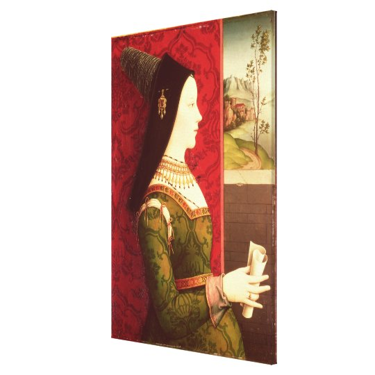 Mary of Burgundy  daughter of Charles the Bold Canvas Print
