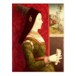 Mary of Burgundy  daughter of Charles the Bold Postcard