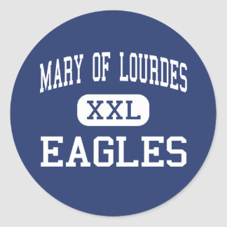 Mary Of Lourdes Eagles Middle Little Falls Classic Round Sticker