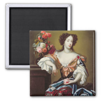 Mary of Modena (1658-1718), c.1680 (oil on canvas) 2 Inch Square Magnet