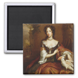 Mary of Modena (1658-1718), c.1685 (oil on canvas) 2 Inch Square Magnet