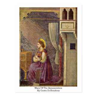 Mary Of The Annunciation By Giotto Di Bondone Postcard
