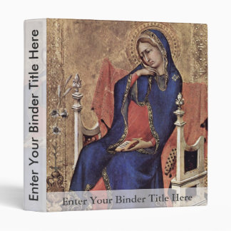 Mary Of The Annunciation By Martini Simone 3 Ring Binders