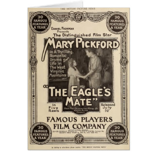 Mary Pickford 1914 silent movie exhibitor ad Card