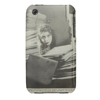 Mary Pickford 1917 portrait with fan mail iPhone 3 Case