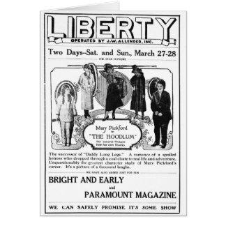 Mary Pickford 1920 vintage movie ad card