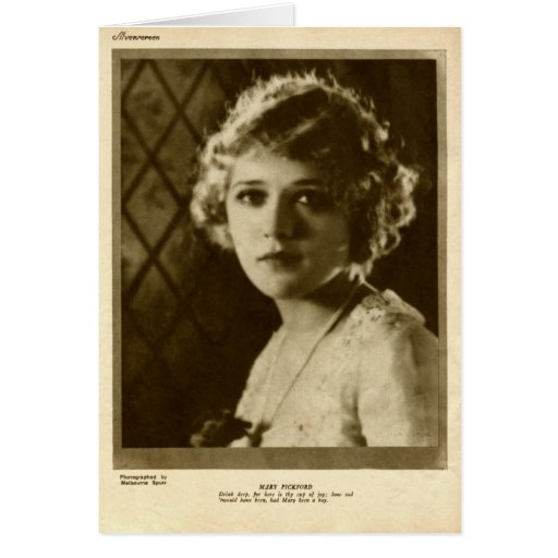 Mary Pickford 1922 vintage portrait Card