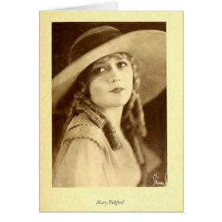 Mary Pickford 1923 portrait with floppy hat Card