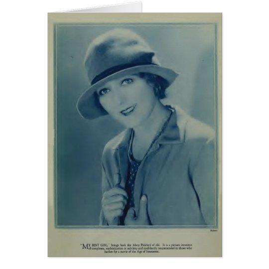 Mary Pickford 1928 vintage portrait Card