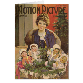 Mary Pickford and Dolls Christmas cover Card