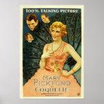 """Mary Pickford cartel de película 1929 de la """"coque Impresiones"""