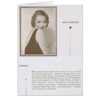 Mary Pickford Enchiladas Recipe Greeting Card