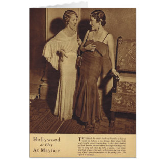 Mary Pickford & Gloria Swanson at a party Greeting Card