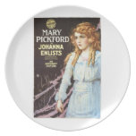 Mary Pickford Johanna Enlists 1918 movie poster Dinner Plates
