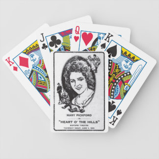 Mary Pickford John Gilbert 1919 1920 movie ad Bicycle Playing Cards
