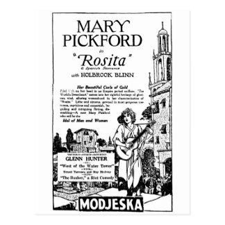 Mary Pickford Rosita 1924 Postcard