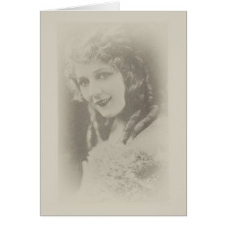 Mary Pickford, Silent Film Actress in Antique Card