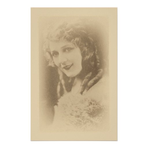 Mary Pickford, Silent Film Actress in Antique Custom Stationery