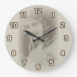 Mary Pickford, Silent Film Actress in Antique Wallclocks