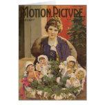 Mary Pickford y cubierta del navidad de las muñeca Tarjeta De Felicitación