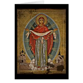 Mary Protector Theotokos Card
