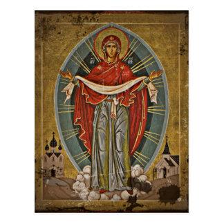Mary Protector Theotokos Postcard