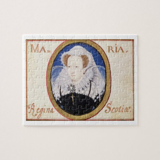Mary Queen of Scots (1542-87) (gouache on vellum) Jigsaw Puzzle