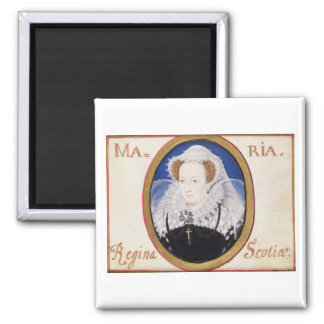 Mary Queen of Scots (1542-87) (gouache on vellum) Magnet
