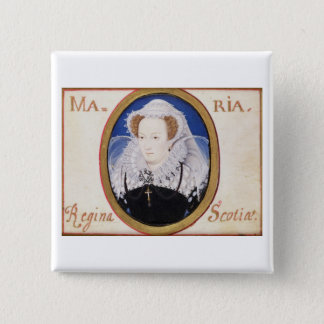 Mary Queen of Scots (1542-87) (gouache on vellum) Pinback Button