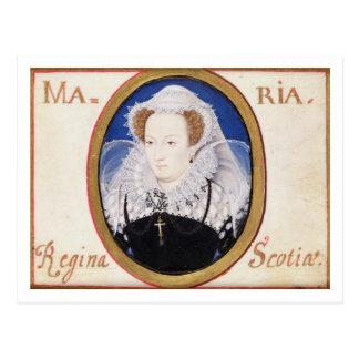 Mary Queen of Scots (1542-87) (gouache on vellum) Postcard