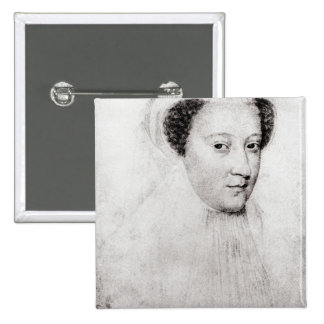 Mary, Queen of Scots  in white mourning, 1560 2 Inch Square Button